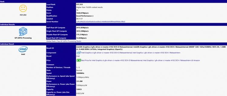 Графика Intel Xe DG1 протестирована в SiSoftware: результаты удручают