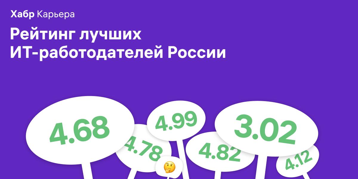 Лучшие ИТ-работодатели России 2019: ежегодный рейтинг Хабр Карьеры - 1
