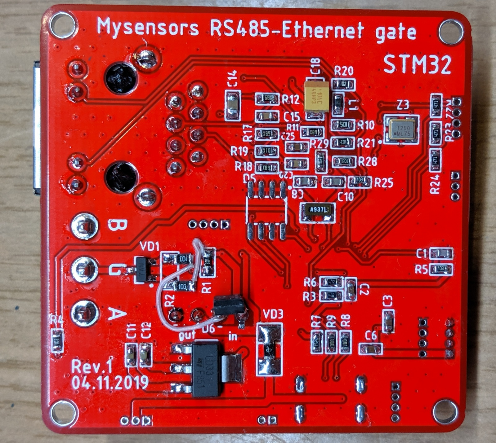 IoT шлюз Ethernet-RS485 на базе STM32 - 10