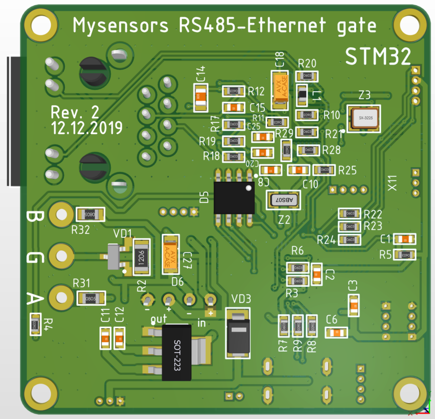 IoT шлюз Ethernet-RS485 на базе STM32 - 8