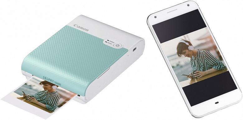 Мобильный принтер Canon Selphy Square QX10 печатает изображения размером 68 х 68 мм