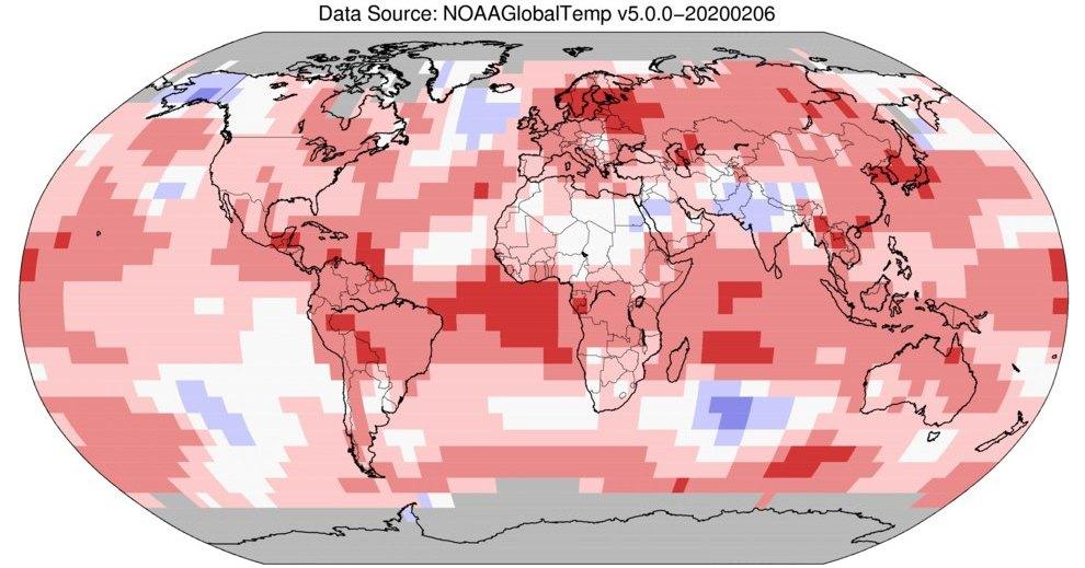 Январь 2020 года оказался самым теплым в истории