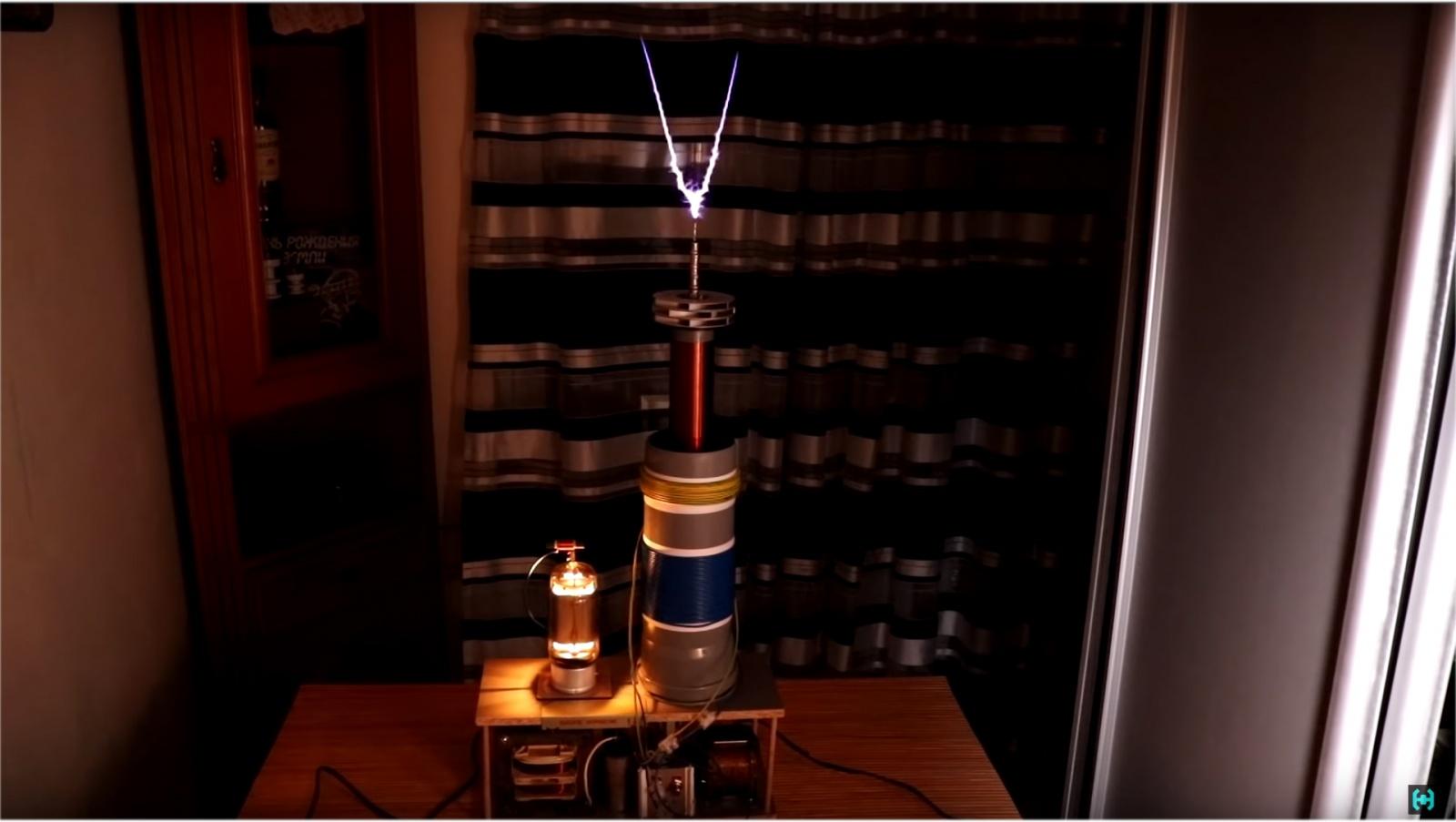 Ламповая катушка Теслы - 19