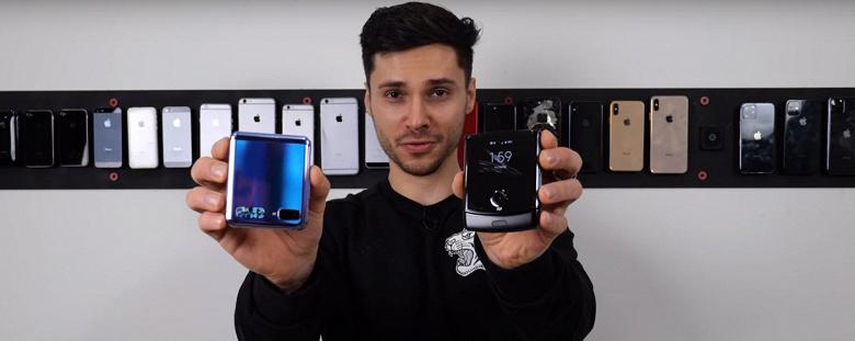 Падение раскладушек. Стеклянный экран Samsung Galaxy Z Flip против пластикового дисплея Motorola Razr
