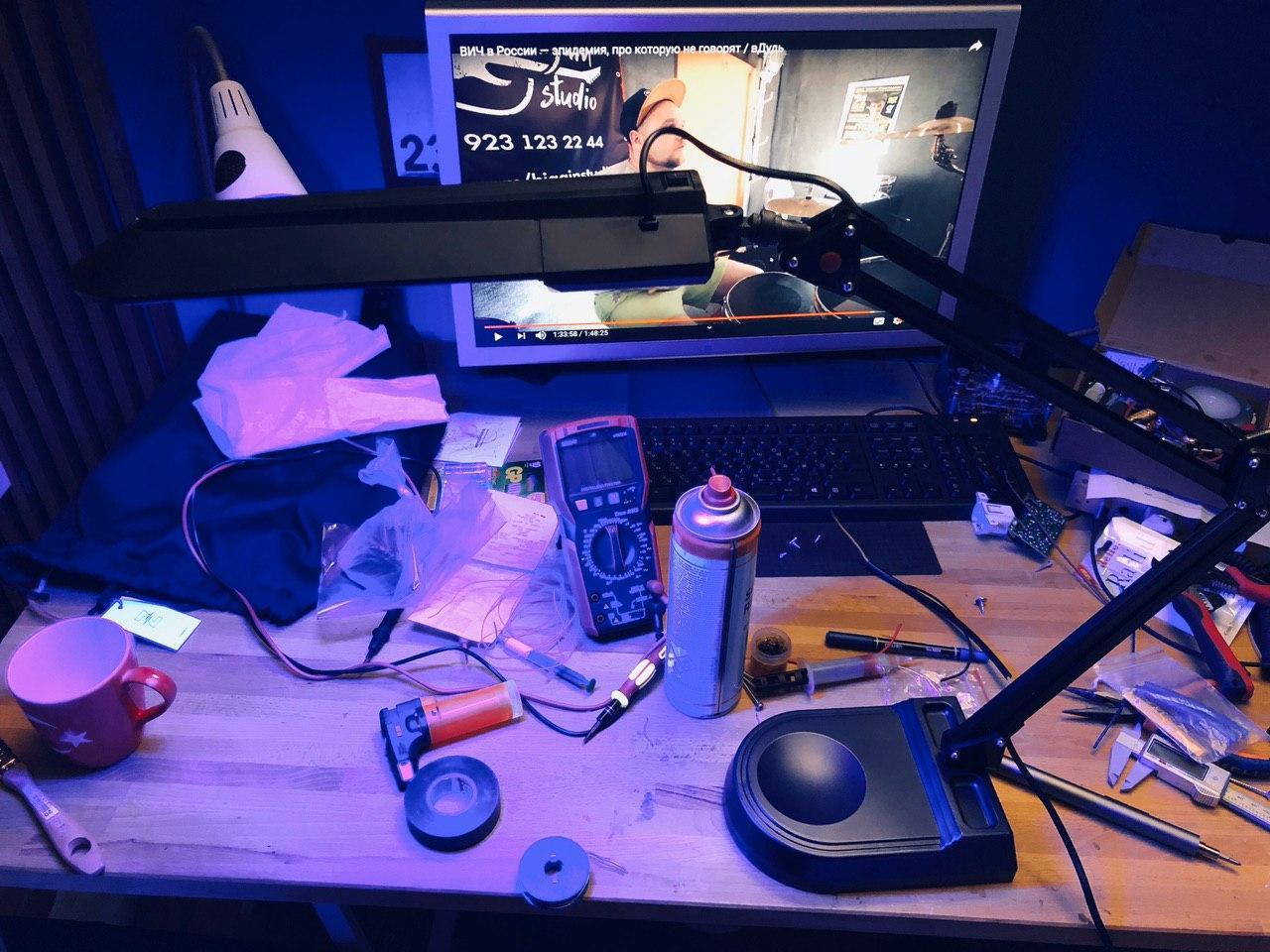 Экспресс UV лампа своими руками 400-405 нм для полимеризации 3D фотополимерных моделей - 21