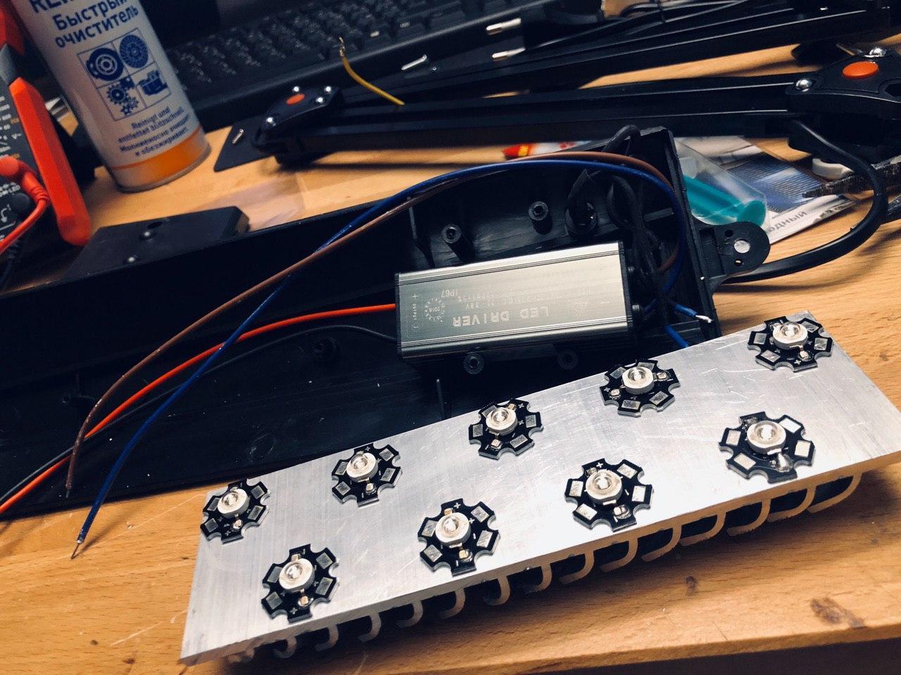 Экспресс UV лампа своими руками 400-405 нм для полимеризации 3D фотополимерных моделей - 8