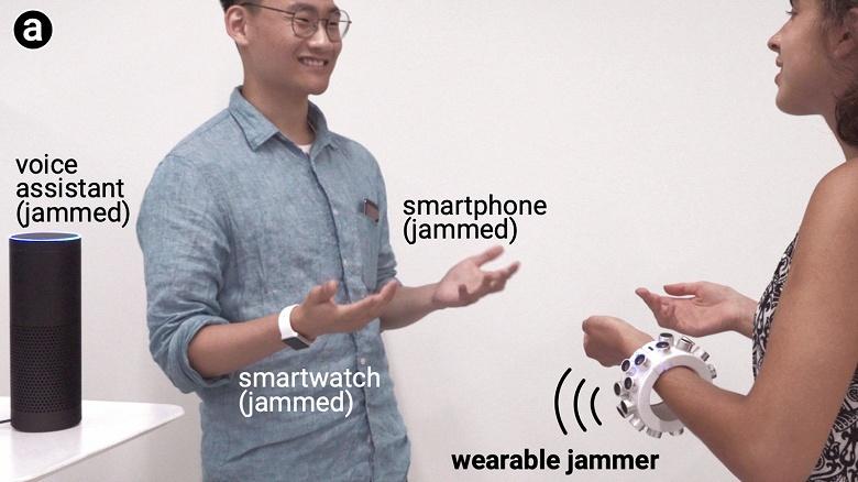 В США создан браслет, заглушающий все микрофоны вокруг