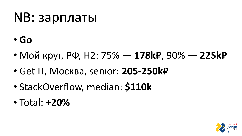Go vs Python. Виталий Левченко - 52