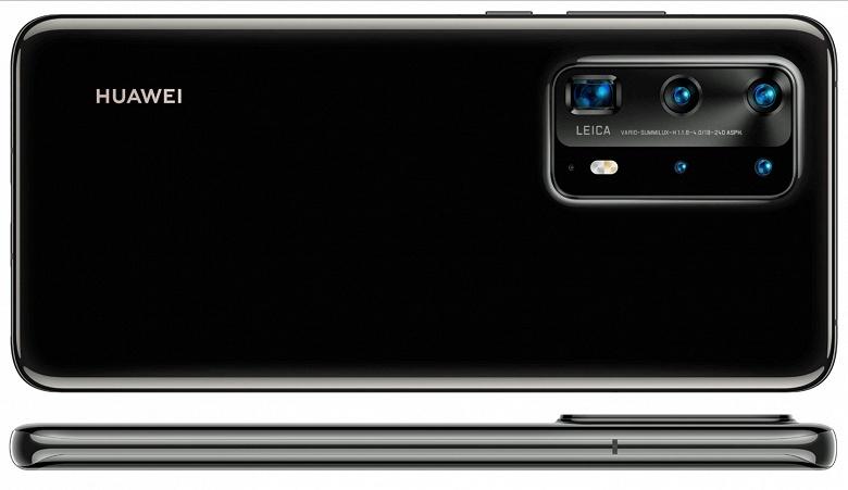 Черный Huawei P40 Pro позирует на новом изображении