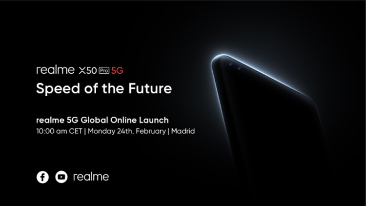 Глобальная презентация смартфона-флагмана Realme X50 Pro 5G пройдёт в онлайне