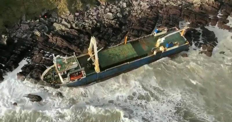 На берег Ирландии выброшено «судно-призрак»