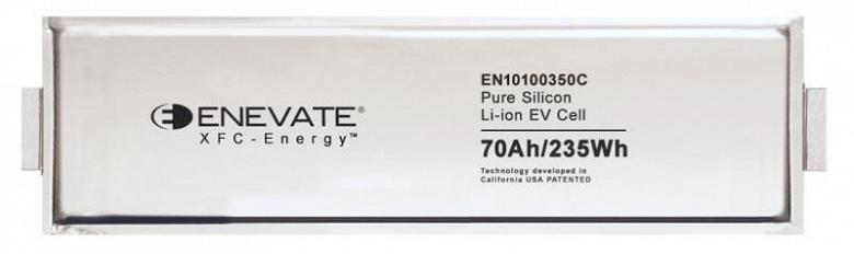 Технология Enevate XFC-Energy позволяет существенно повысить энергетическую плотность аккумуляторов и скорость зарядки