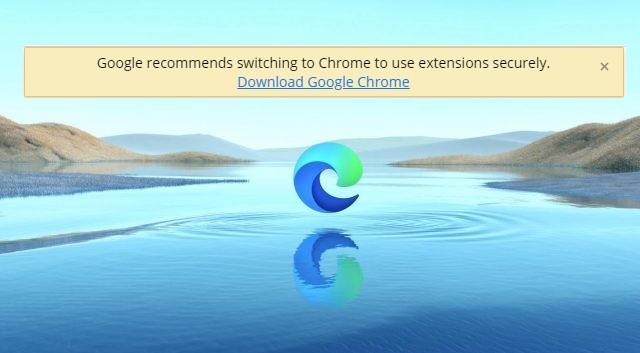 Google советует перейти на браузер Chrome пользователям Microsoft Edge, устанавливающим расширения из Chrome Web Store - 1