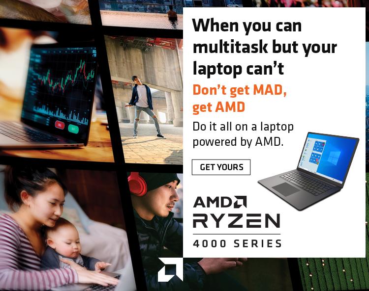 Новая кампания AMD делает упор на многозадачность ноутбуков, использующих APU Renoir