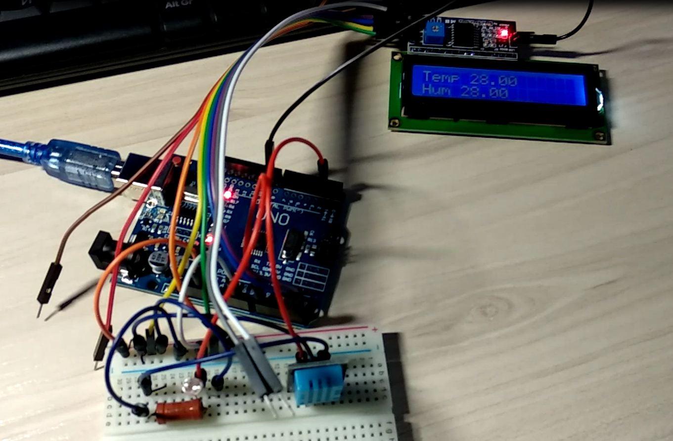 Измеритель температуры и влажности на контроллере Arduino c отображением значений на LCD дисплее - 6
