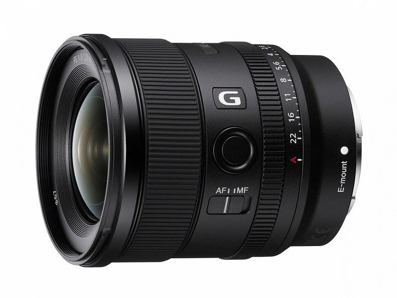 Представлен объектив Sony FE 20mm F1.8 G