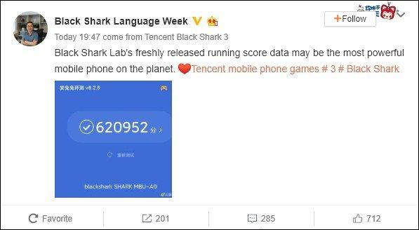 «Самый мощный смартфон на планете» набрал в AnTuTu более 620 000 баллов