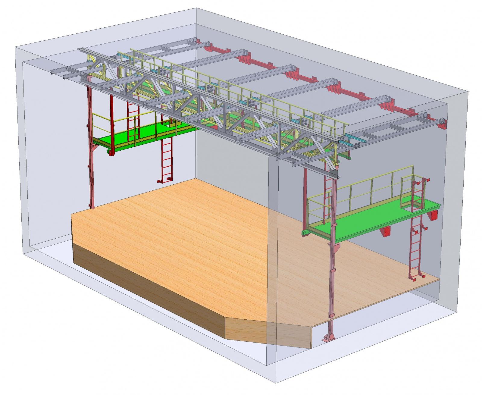 Проект технологических металлоконструкций для маленького театра