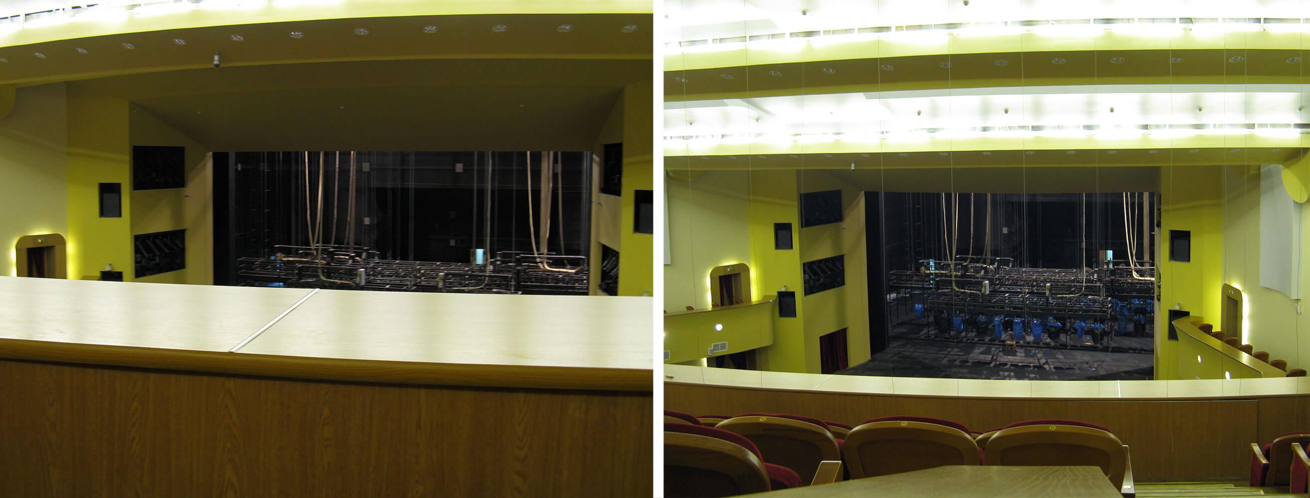 Вид на сцену с балкона зрительного зала