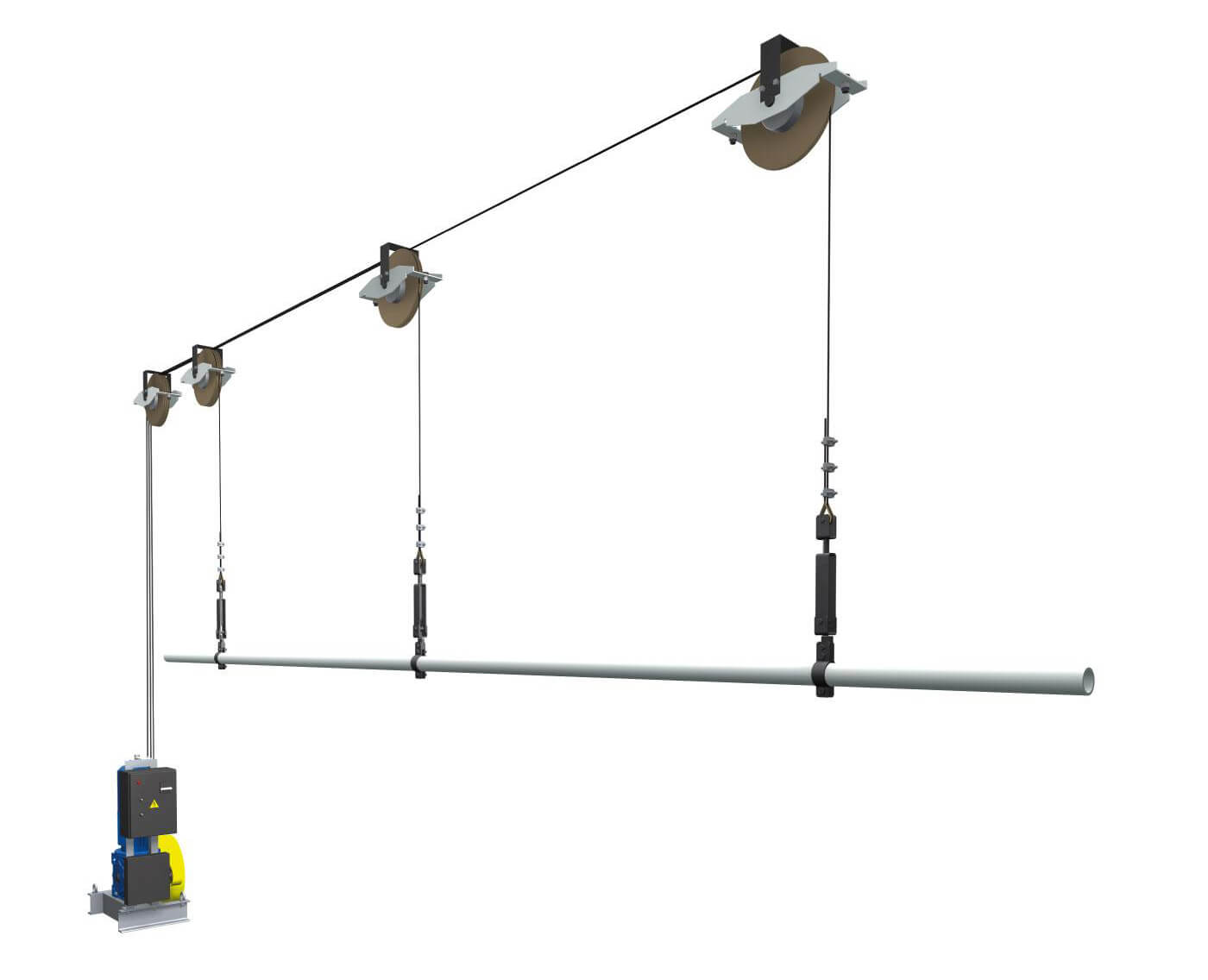 Схема работы штанкетного (декорационного) подъёма