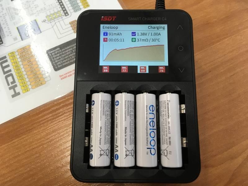Ловим деградацию аккумуляторов АА и ААА при токах в 0.3 от емкости - 5