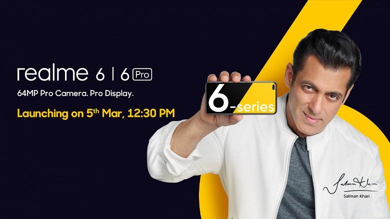 Профессиональные камера и дисплей. Самый быстро растущий бренд смартфонов назвал дату выхода Realme 6 и 6 Pro