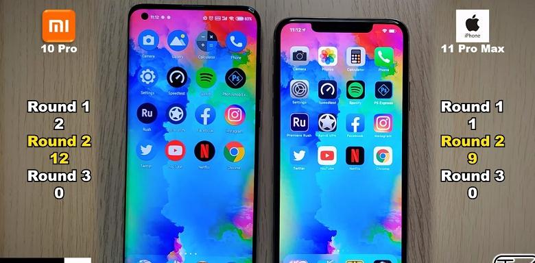 Xiaomi Mi 10 Pro против iPhone 11 Pro Max. Кто окажется быстрее по скорости запуска приложений?