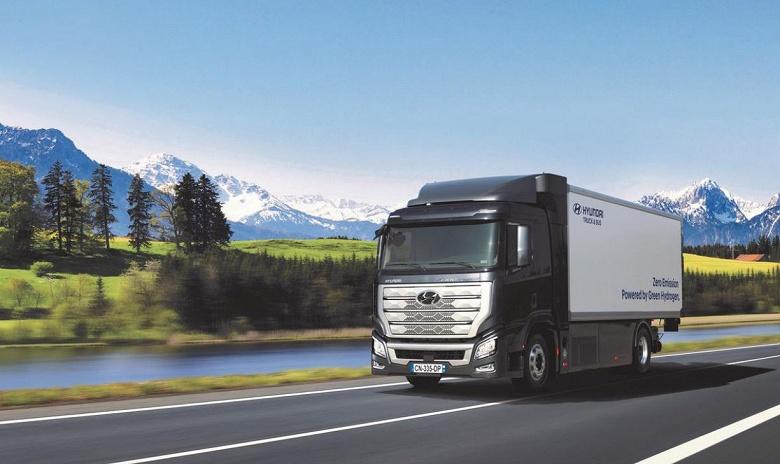В Швейцарии начинается эксплуатация грузовиков Hyundai на водородных топливных элементах
