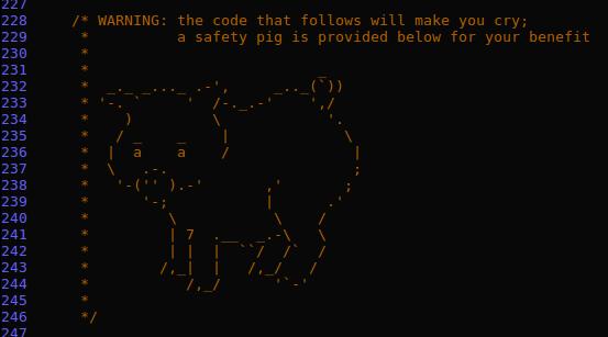 Лучшие комменты в исходном коде - 2