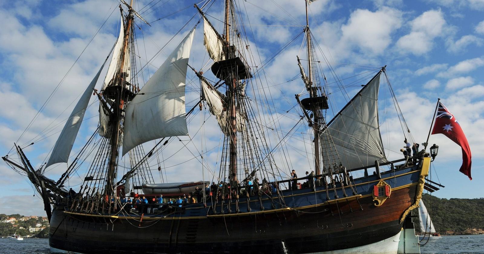 Как выглядел корабль капитана Кука