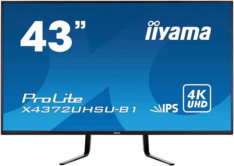 В мониторе iiyama ProLite X4372UHSU используется 43-дюймовая панель 4K