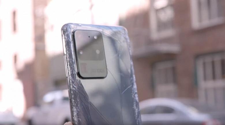 Уничтожение Samsung Galaxy S20 Ultra. Смартфон не прошёл тест на падения
