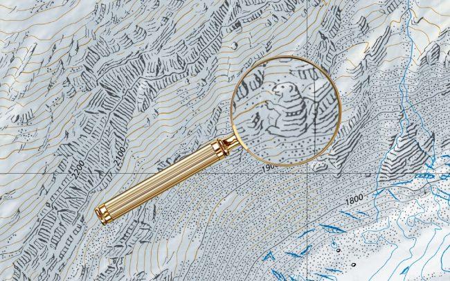Пасхалки на топографических картах Швейцарии - 1
