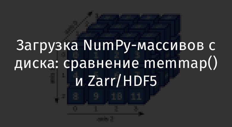 Загрузка NumPy-массивов с диска: сравнение memmap() и Zarr-HDF5 - 1