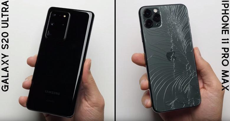 Samsung Galaxy S20 Ultra и iPhone 11 Pro Max против силы тяжести. Кто победит в дроптесте?