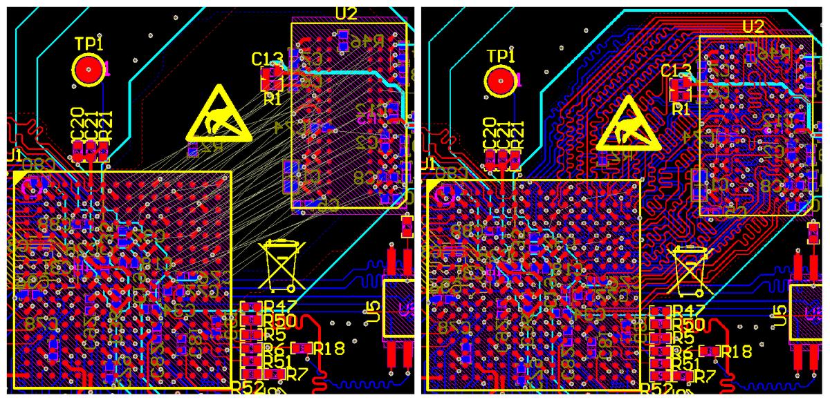 Разработка модуля на iMX8 от NXP. Особенности переноса трассировки DDR - 2