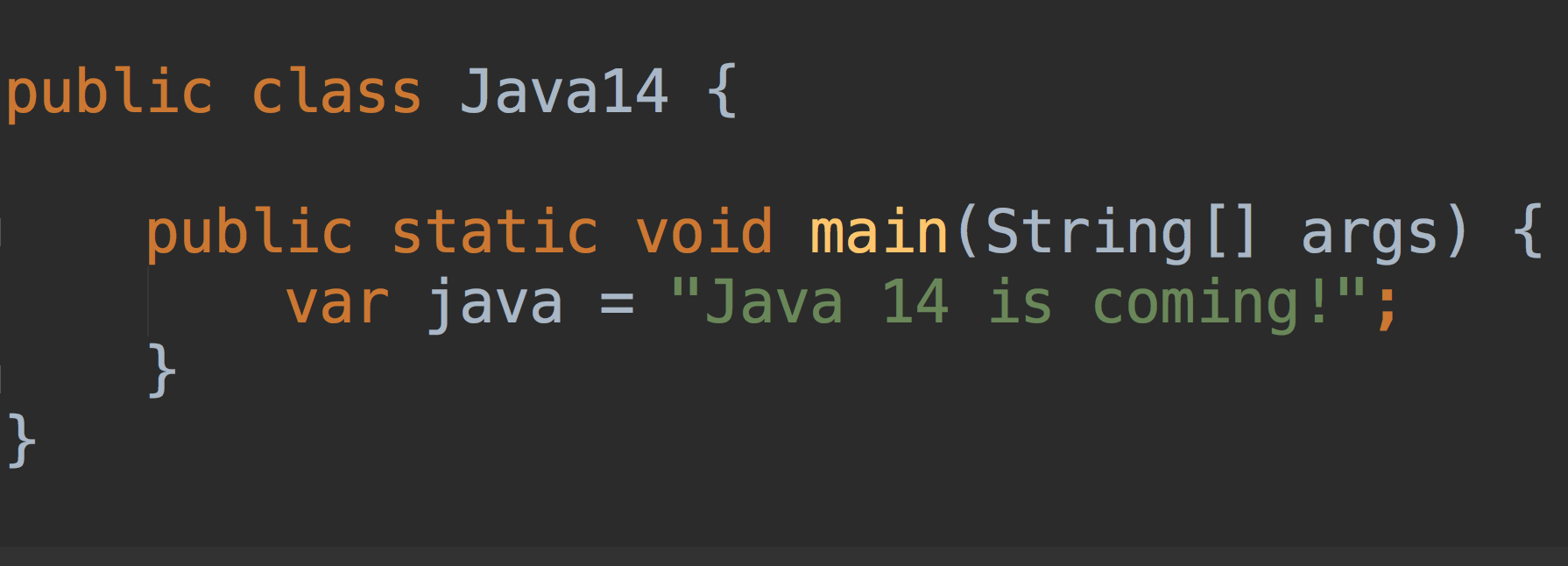Java 14 is coming - 1