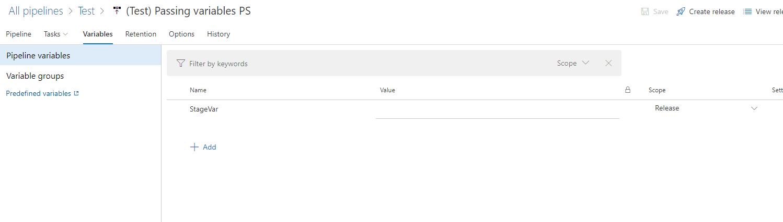Использование переменных в пайплайнах Azure DevOps - 2