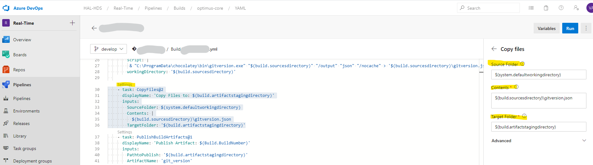 Использование переменных в пайплайнах Azure DevOps - 1