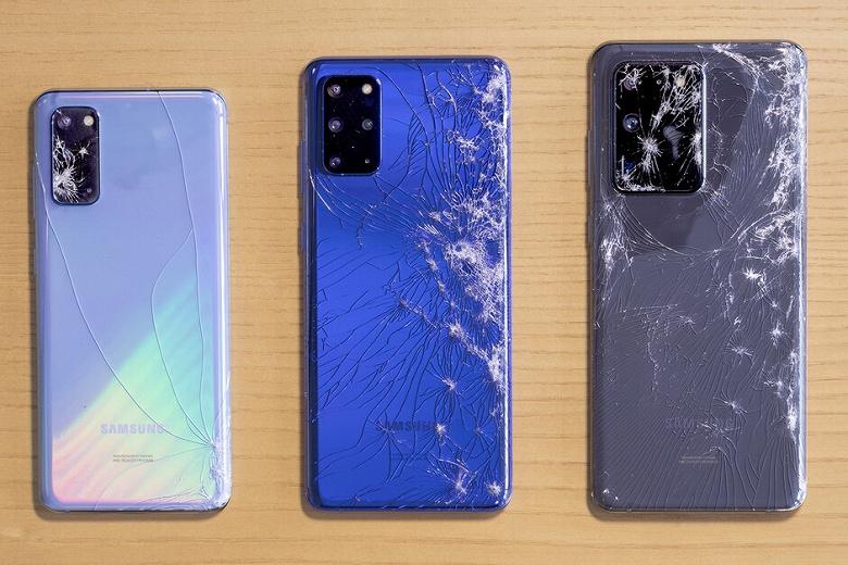 Их роняли, топили и сгибали. Samsung Galaxy S20, S20+ и S20 Ultra сошлись в битве за звание самого прочного