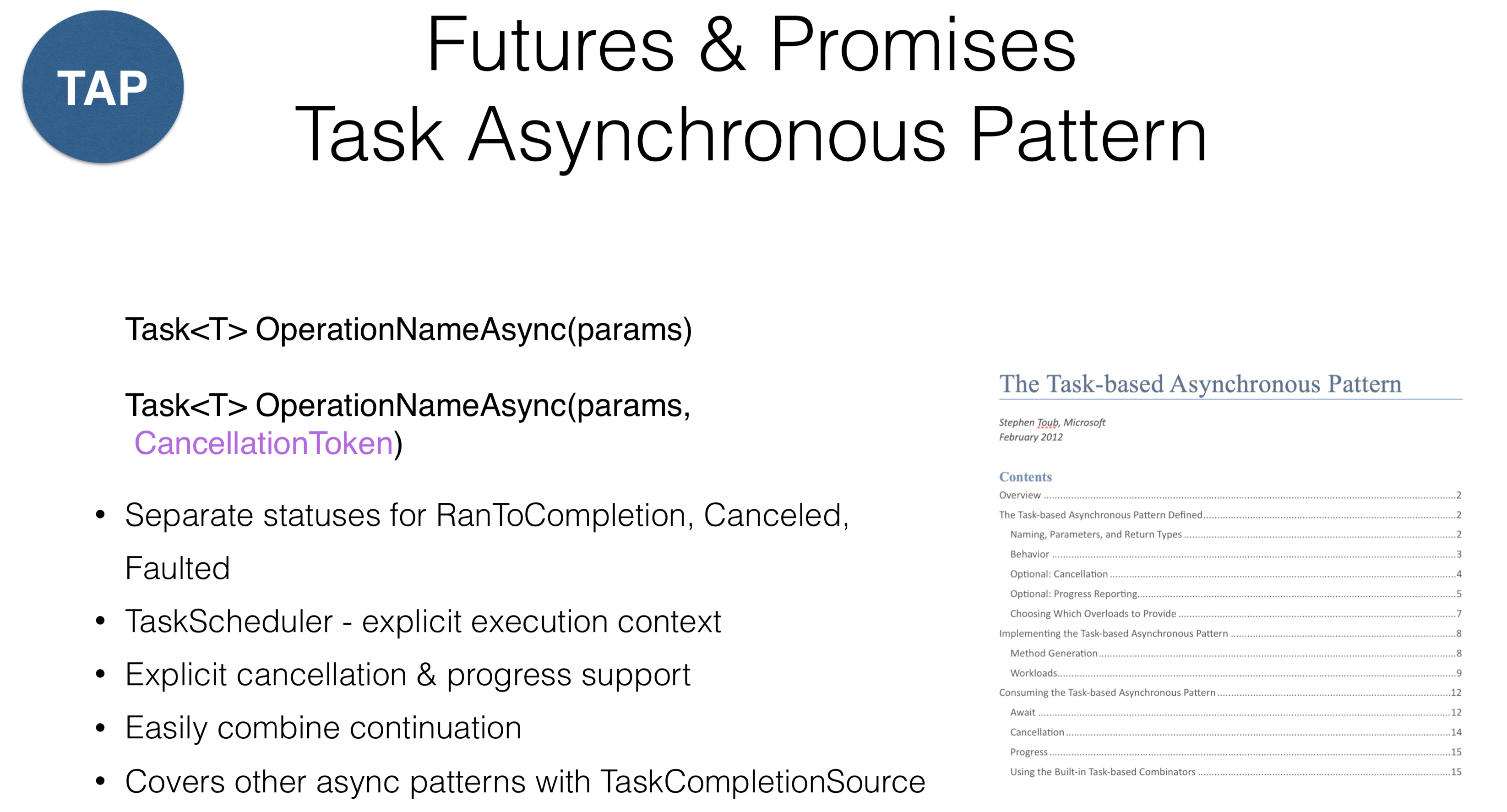 Async programming in .NET: Best practices - 6