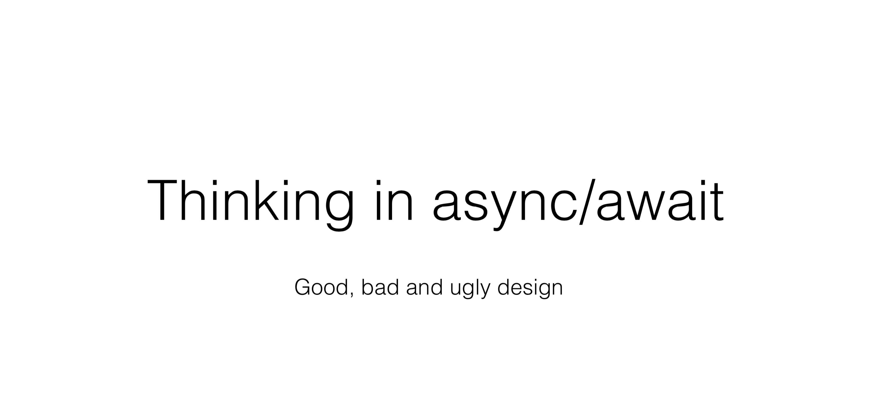 Async programming in .NET: Best practices - 1
