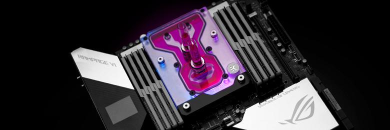 Моноблок EK-Quantum Momentum ROG Rampage VI Encore D-RGB позволяет убрать с платы Asus ROG Rampage VI Extreme Encore два вентилятора