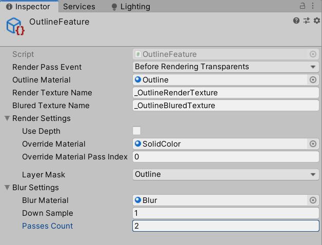 Outline эффект с использованием RenderFeature в Unity URP - 9