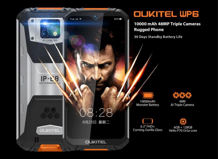 20 марта OUKITEL устроит в честь премьеры розыгрыш 10 неубиваемых смартфонов WP6 с батареей на 10 000 мА·ч