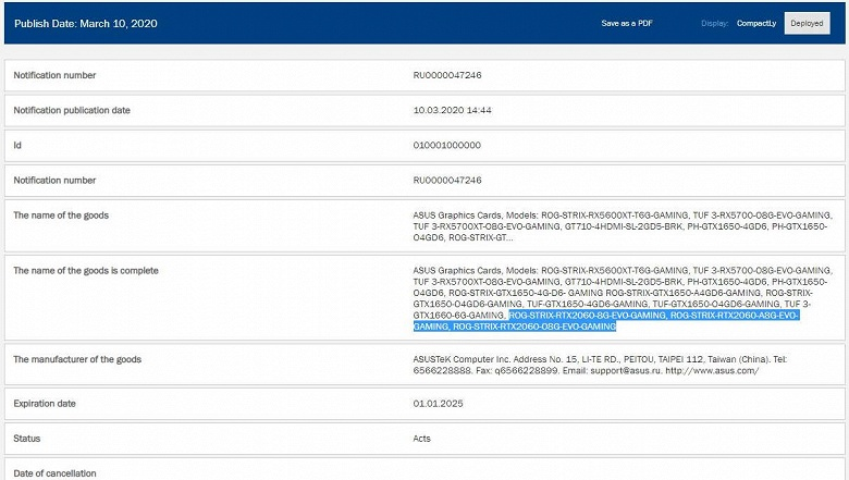 У новой версии GeForce RTX 2060 будет 8 ГБ памяти?