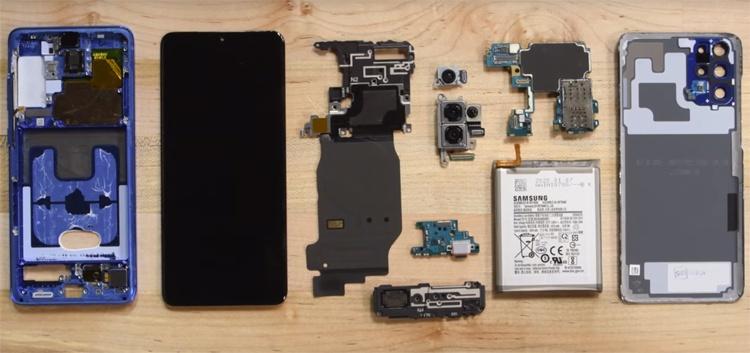 Видео дня: специалисты iFixit препарировали смартфон Samsung Galaxy S20+