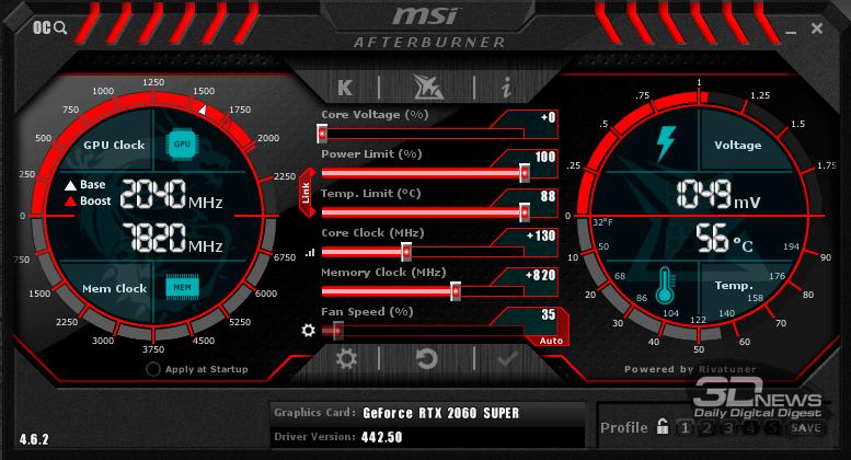 Новая статья: Обзор видеокарты MSI GeForce RTX 2060 SUPER Ventus GP OC: укрощённая ветром