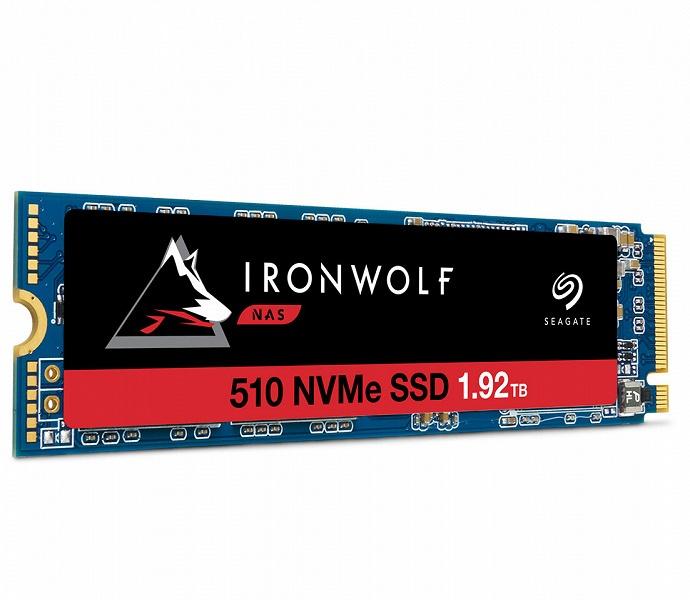 Seagate называет IronWolf 510 первым в мире SSD с интерфейсом PCIe для корпоративных NAS