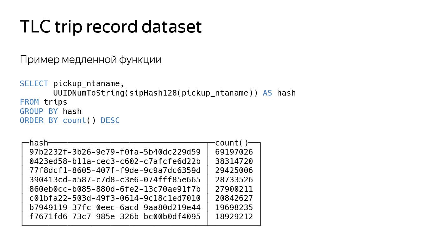 Оптимизация строк в ClickHouse. Доклад Яндекса - 21